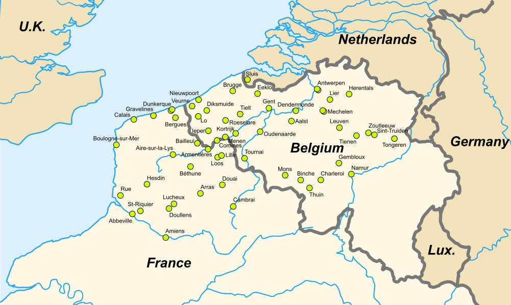 brügge karte Belfried von Brügge